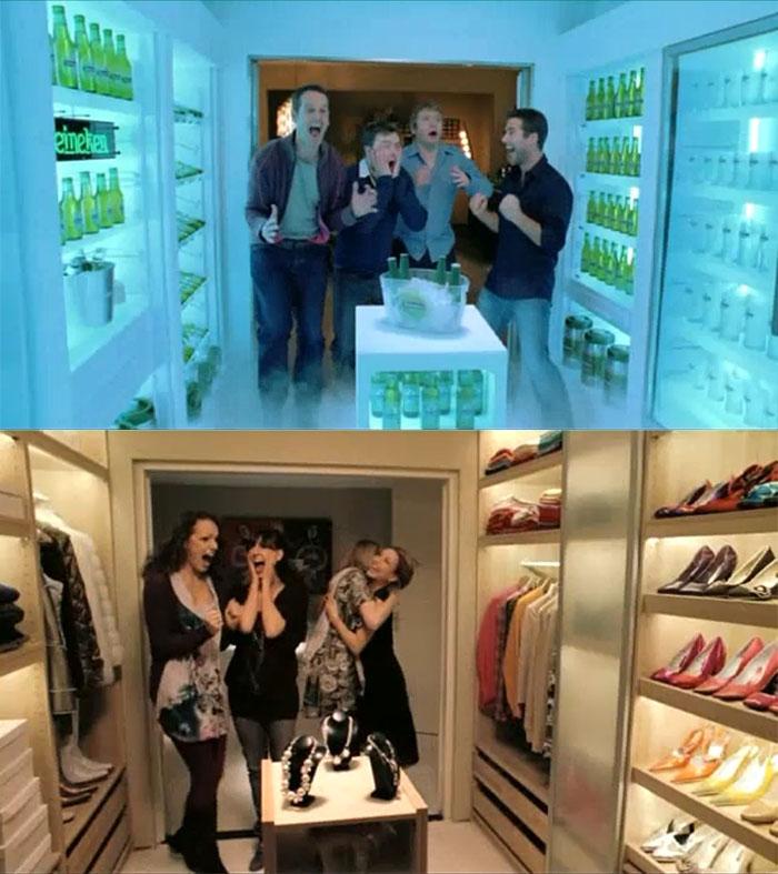 heineken closet beer commercial 2